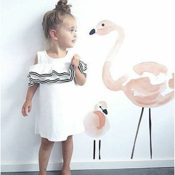 Pink Flamingo Wall Stickers Home Decor Children's Room