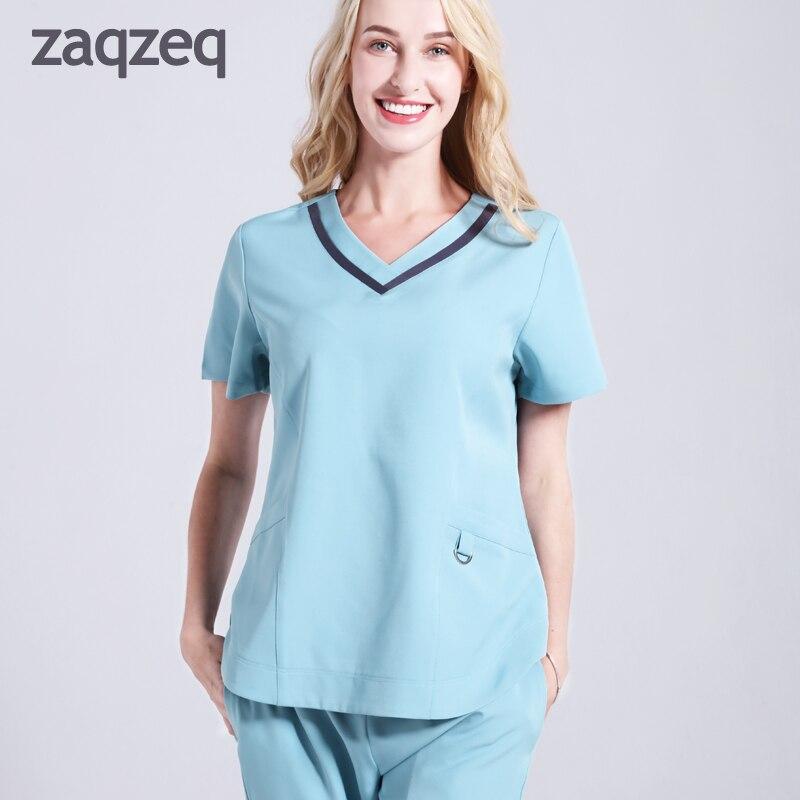 Chirurgische Meidcal Kleidung Krankenschwester Kleider Blue Labor Krankenhaus Isolation Peeling Ärzte Uniformen sets purple gYb6y7fv