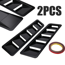 New Pair Matte Black Finish Cooling Panel Trim ABS Bonnet Hood Vent Louver For Ford Mustang