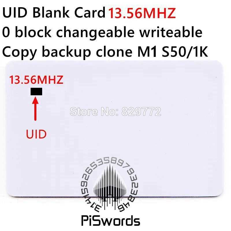 UID herschrijven verwisselbare nfc kaart met block0 veranderlijk beschrijfbare voor s50 13.56 Mhz nfc chinese magic card copy clone crack hack