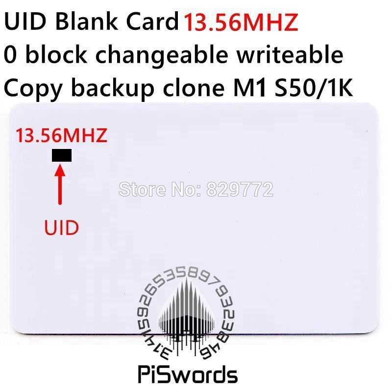 UID rewrite veränderbar nfc karte mit block0 veränderlich beschreibbare für s50 13,56 Mhz nfc chinesische magie karte kopieren klon riss hack