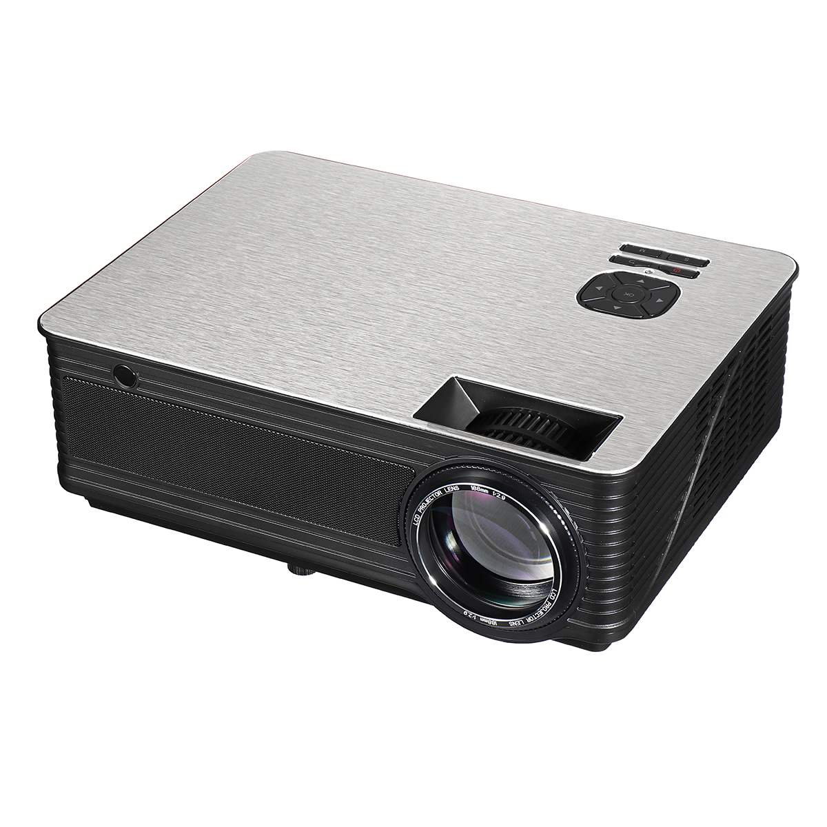 LEORY  M5 LED Portable Projector 5.8 Inch LCD Projector 4500 Lumen 1280*800 Support 1080P TV Home TheaterLEORY  M5 LED Portable Projector 5.8 Inch LCD Projector 4500 Lumen 1280*800 Support 1080P TV Home Theater