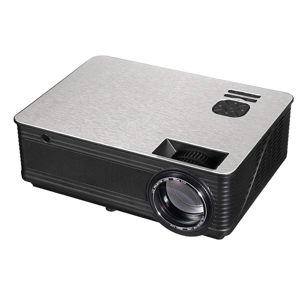 LEORY M5 projecteur à LED portable 5.8 pouces LCD projecteur 4500 Lumen 1280*800 Support 1080 P TV Home cinéma