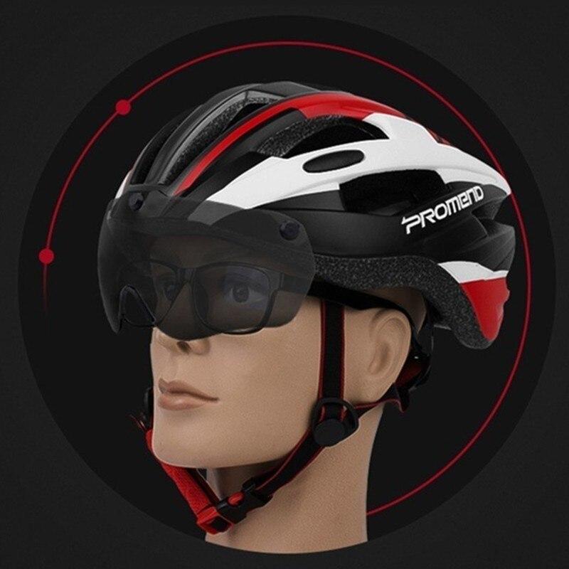 Cyclisme lunettes magnétiques casque intégré vélo de montagne vitesse vtt Ride lunettes de vélo Skateboarding casque une pièce moulage