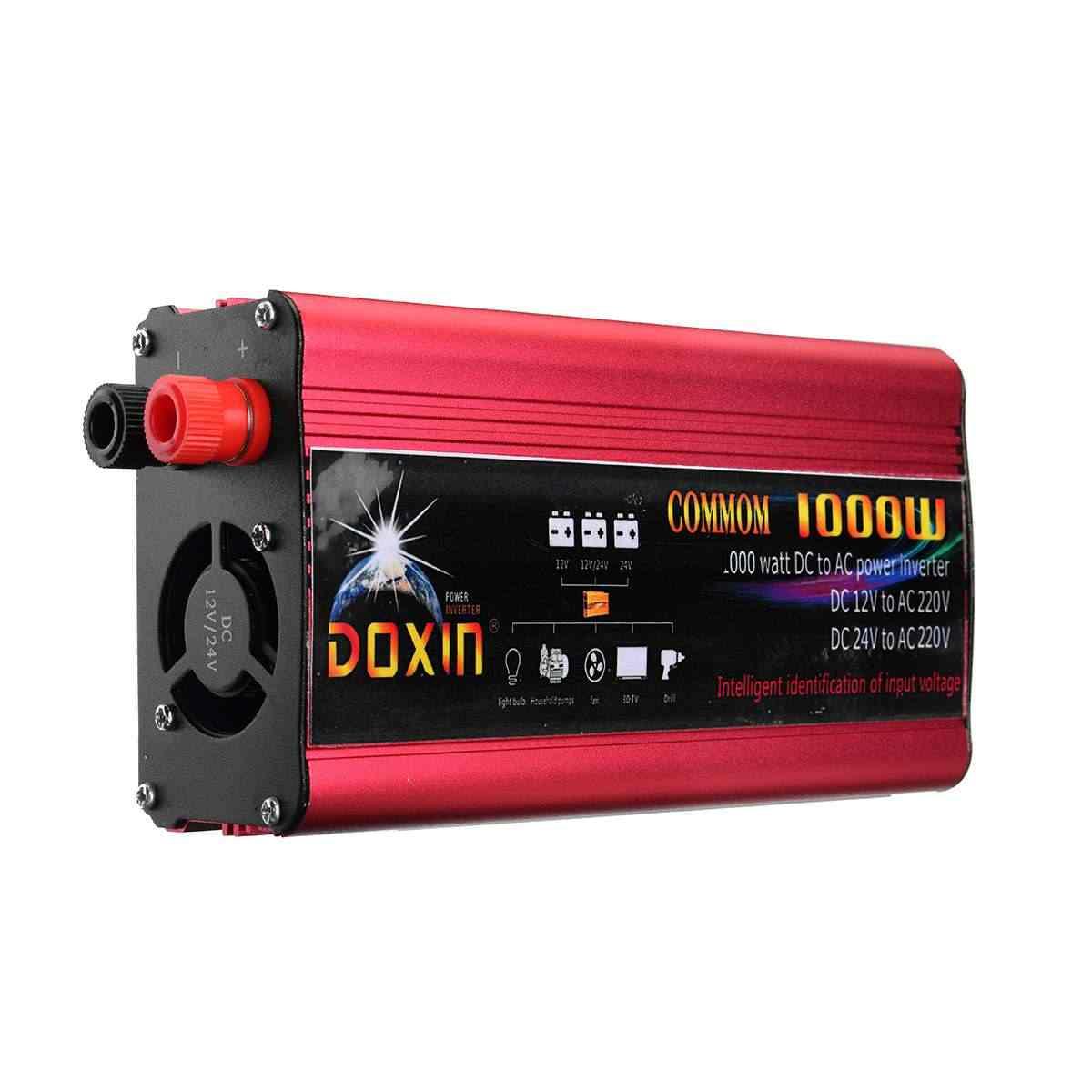 Inversor del coche de 2000W 12 220 adaptador del convertidor del cargador del inversor de la energía del coche Puerto del enchufe USB modificado onda sinusoidal cc 12V 24V a CA 220V