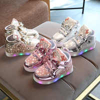 Lumières chaussures 2019 baskets lumineuses pour filles panier Led enfants éclairage chaussures baskets lumineuses panier enfant led