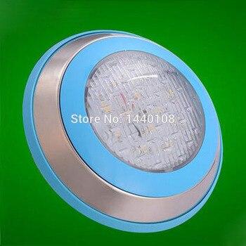 5 יח'\חבילה 15w Led עגול שחייה מנורת נירוסטה RGB Ac12V/24 V RGB LED מתחת למים נוף מנורה בריכת שחייה קיר מנורה