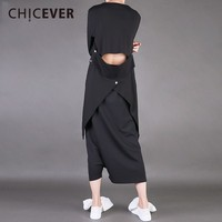 CHICEVER Spring Slim Balck Women T Shirts Top Long Sleeve V Neck Backless Pullovers Women's T Shirt Clothes Fashion Korean 2018