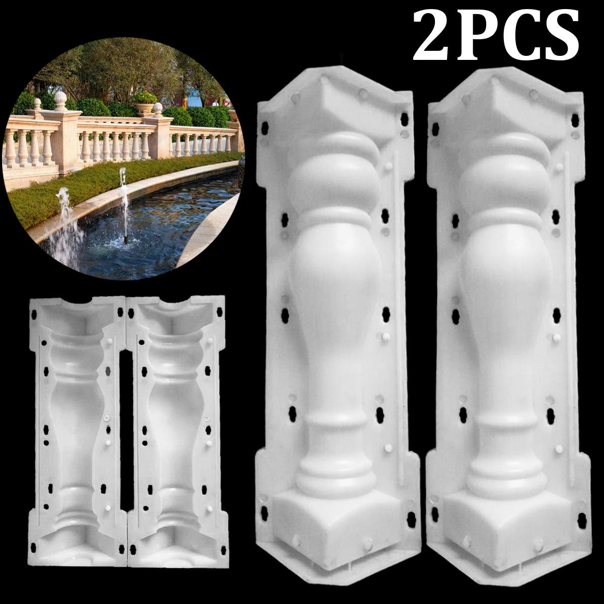 60x14cm Roman Column Mold Balcony Garden Pool Fence Cement Railing Plaster Concrete Mold Column Mold Guardrail Building
