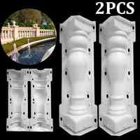 60x14cm Roman Column Mold Balcony Garden Pool Fence Cement Railing Plaster Concrete Mold column mold guardrail Building