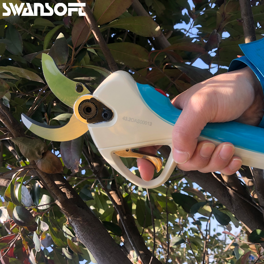 2019 new progressive type anti cutting hand lithium battery electric pruning shears garden scissors electric in