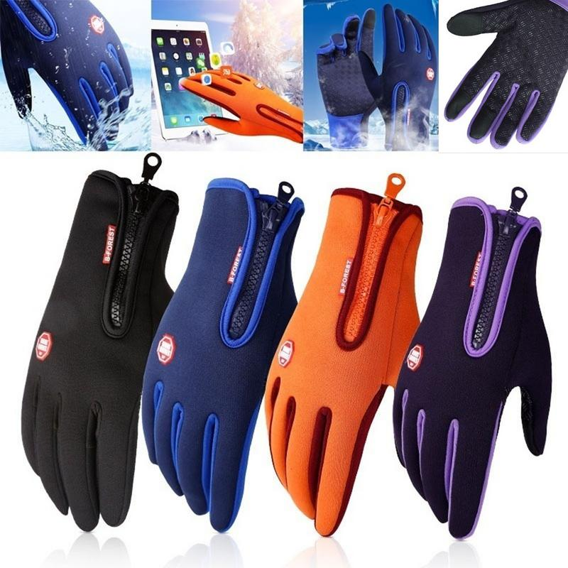 Sports Windproof Waterproof Touch Screen Thermal Bicycle Gloves Outdoor Hiking Mittens Winter Warm Bicycle Bike Cycling Gloves