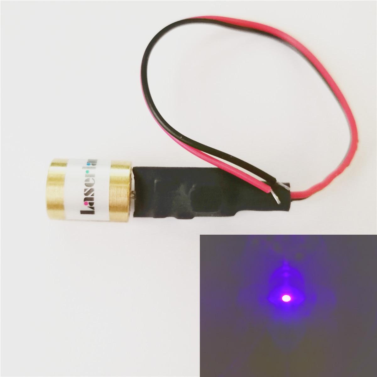 12x17mm 405nm 100mW Violet Blue Dot Laser Module Diode DC5V Locater