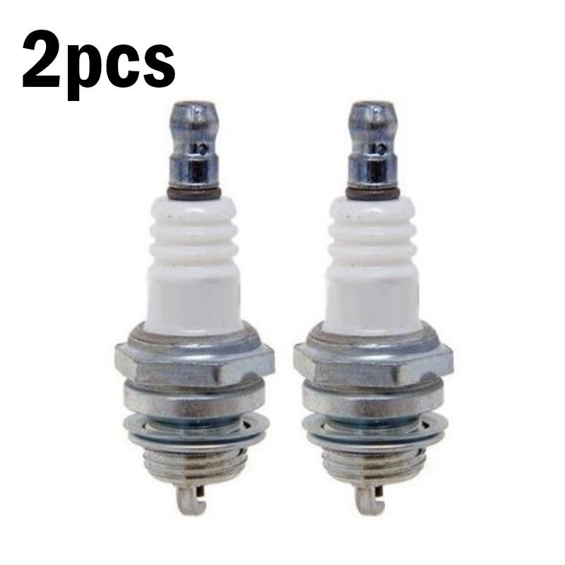 2pcs Spark Plugs For Stihl Hus Qvarna Chainsaw Trimmer RCJ6Y BPMR7A WSR5F