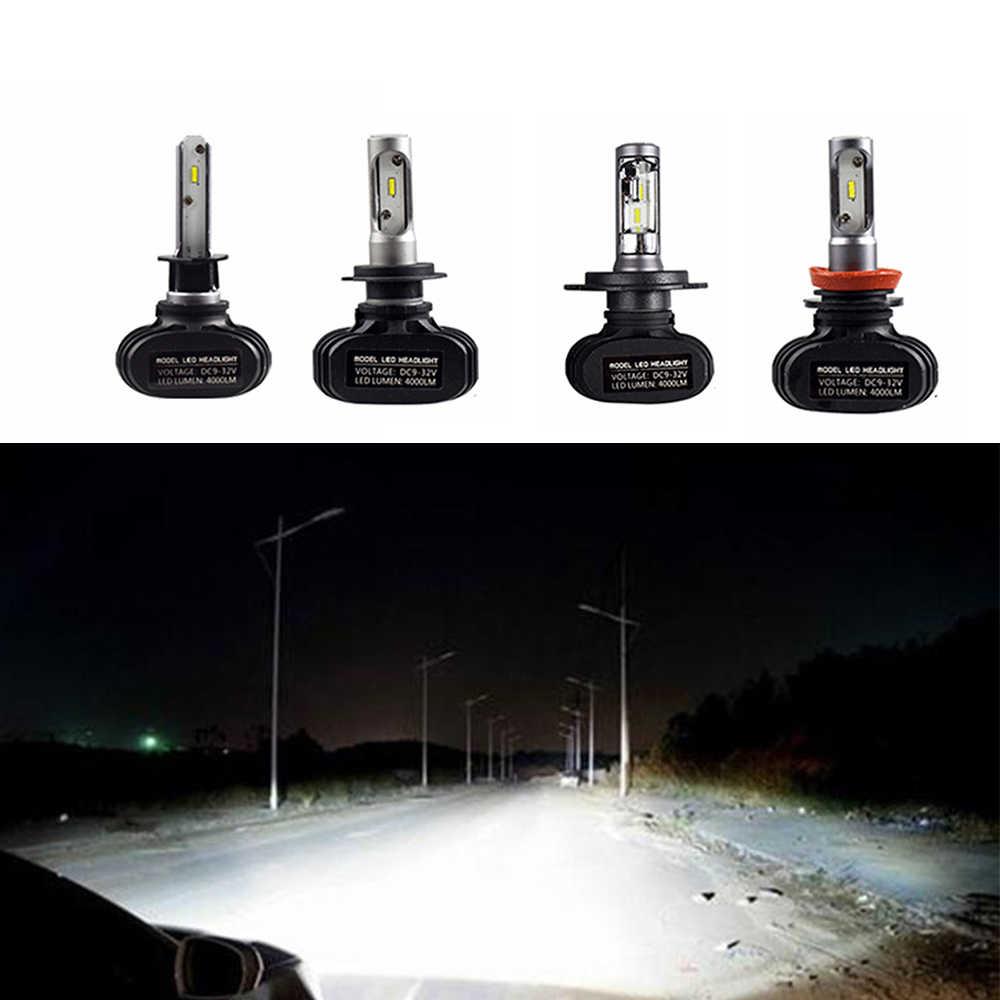 1PCS Auto Led H7 Headlight H13 H4 Led Car Bulb 6500K Waterproof CSP Chips 50W 8000lm Fanless H1 H4 H8 H11 Fog Lamp
