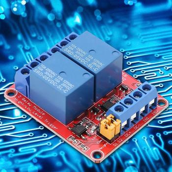 цена на 2 Channel 5V 12V 24V Relay Module with Optocoupler Isolation High and Low Level Trigger 2-way relay module DC Or AC