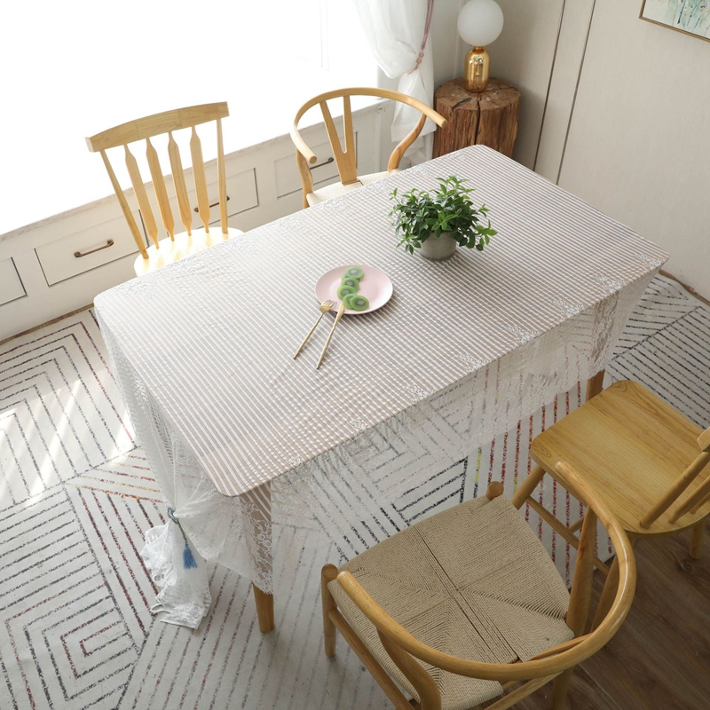 1PC White Lace Embroidered Tablecloth DIY Decor ...