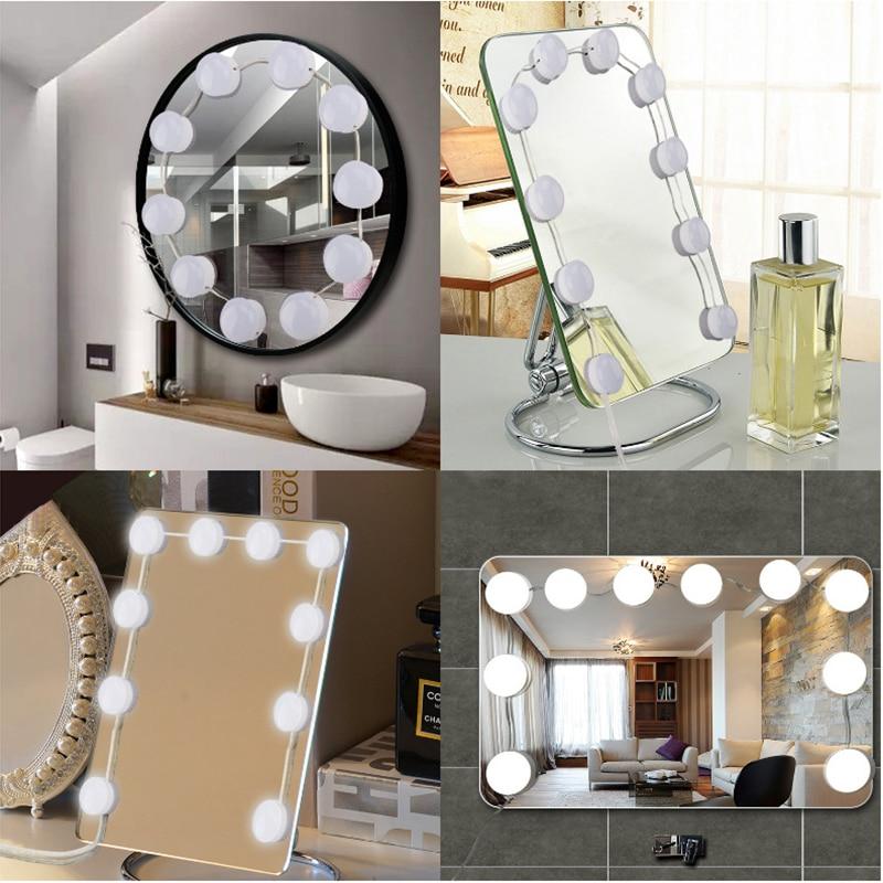 Hollywood Style LED Vanity Mirror 360 Rotation Lights Kit ...