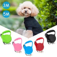 Solid color automatic telescopic traction rope Automatic Telescopic Pet Leash Tractor Dog Chain Hyena Rope Pet Supplies high quality puppy dog automatic telescopic traction rope