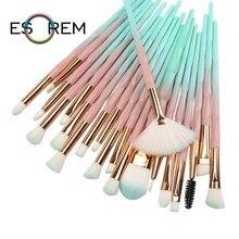 ESOREM 20 шт. 2019 Diamond макияж расчёски для волос комплект для женщин для основы, пудры, румян тени губ косметический розовый макияж ин