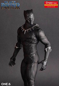 Image 1 - Crazy Speelgoed 1/6 Schaal Marvel Comics Black Panther Figurine Toy Doll Standbeeld