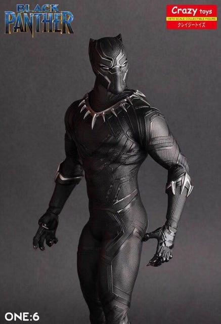Crazy Speelgoed 1/6 Schaal Marvel Comics Black Panther Figurine Toy Doll Standbeeld