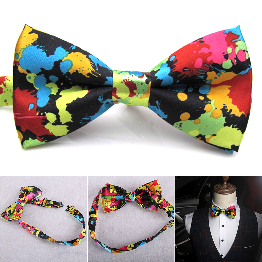 1PC Charming Adjustable Colorful Butterfly Printing Men Bow Ties Wedding  Ties