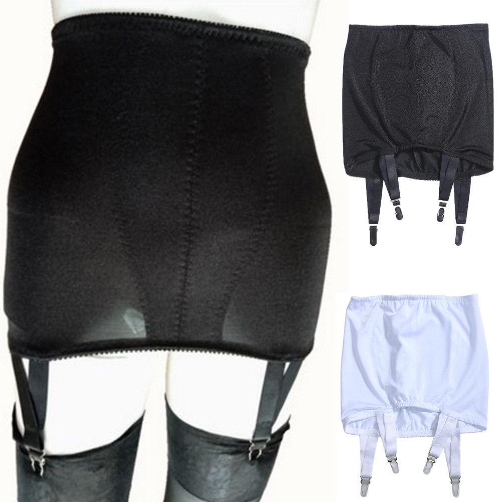 Sexy Women Lace Garter Belt High Waist Suspender Black White Size UK 10 To 18 SEXY  Garter Belt