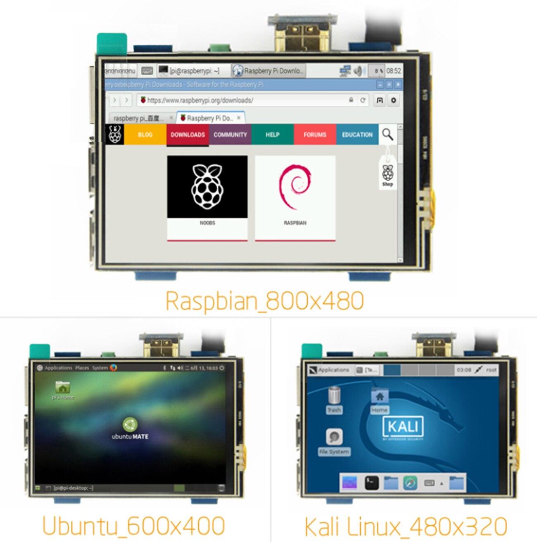 Touch Screen For Orange Pi MPI3508 3.5 Inch LCD HDMI USB Screen Real HD 1920x1080 For Raspberri 3 Model B