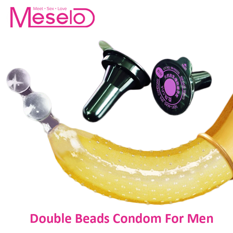 Meselo <font><b>Double</b></font> Beads Condom Natural Latex Contraceptives Big Particle Spike Condoms <font><b>For</b></font> Men Intimate Goods <font><b>Sex</b></font> <font><b>Toys</b></font> <font><b>For</b></font> <font><b>Couples</b></font> image