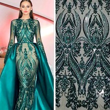 104d3c4dd47d91 Elegante Moslim Groene Lange Mouw Avondjurk Afneembare Trein Sequin Bling  Marokkaanse Kaftan Formele Party Gown Kant
