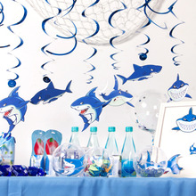 Baby Shark Birthday Party Decorations Boys Decoration Supplies Shape Hanging Swirls For Kids Happy