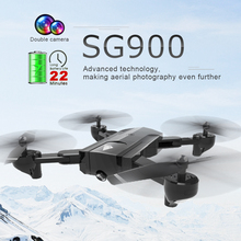 SG900 RC Drone With Dual 720P/4K HD Camera Quadcopter Foldable Optical Flow Localization 22/11mins Long Flight Time ZLRC