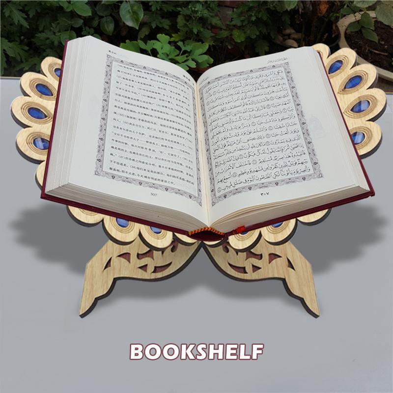 Ramadan Eid Decor Crystal Quran Book Allah Islamic Muslim Gift Scripture For Home Decor Polishing Quran Book Bookends Ornament Bookends