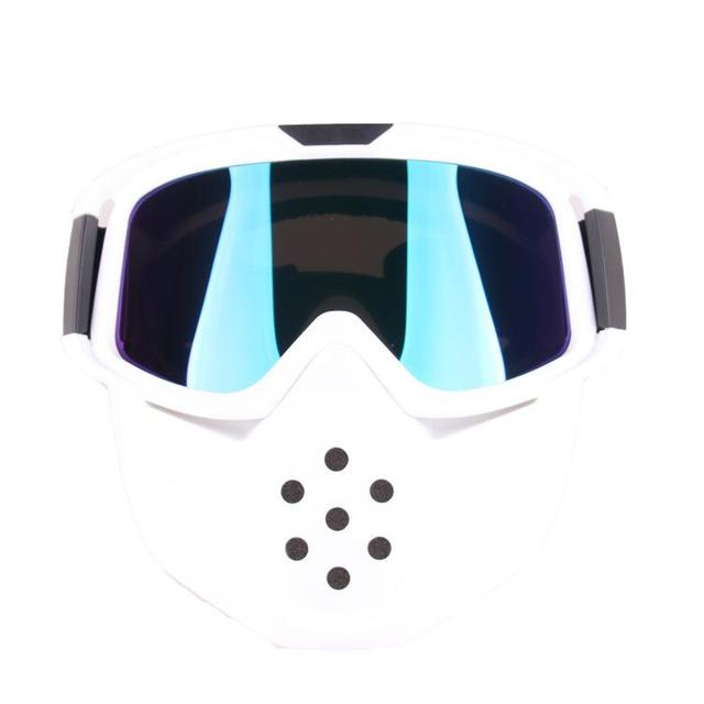 LumiParty Motorcycle Retro Goggles Glasses Outdoor Sports Anti-sand with Detachable Motorcycle Mouth Filter goggles mask 2
