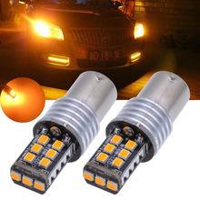 2x Âmbar 1156-2835 15-SMD BA15S P21/12-18 5 w Lâmpada LED Luzes de Sinalização Do Carro v DC 6 w