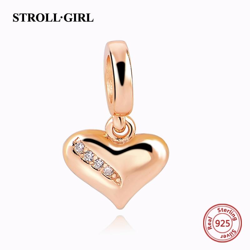Fit Authentic Pandora Charms perak 925 Asli Antik Cinta Hati Zircon - Perhiasan fashion - Foto 3