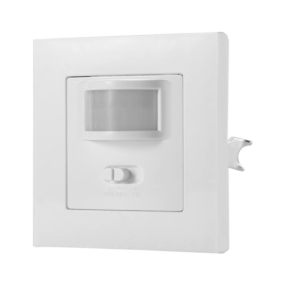 Sensor de Movimiento infrarrojo Mini 360 /° Empotrado en el Techo Detector de Movimiento del Cuerpo PIR Interruptor de luz de la l/ámpara Ajustable para la Seguridad del hogar 110-240 V