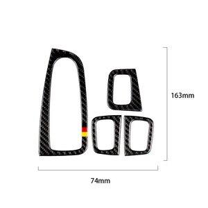 Image 3 - Dla Mercedes Benz klasy C W205 C180 C200 C300 GLC260 4 sztuk z włókna węglowego przełącznik okna samochodu pokrywa na podłokietnik samochodowy