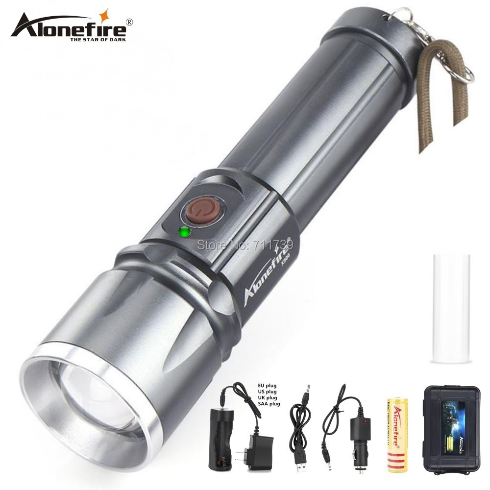 AloneFire lanterna <font><b>X900</b></font> High power led flashlights CREE XM-L2 T6 USB Rechargeable Zoom Lantern 26650 LED Zaklamp Work Torch image
