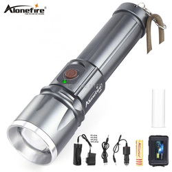 Alonefire lanterna x900 alta potência led lanternas cree XM-L2 t6 usb recarregável zoom 26650 led zaklamp trabalho tocha