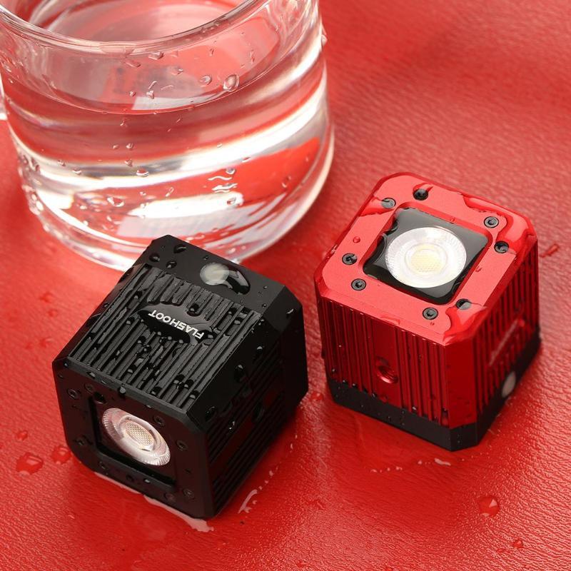 Alloyseed étanche 20 m/65ft plongée LED lumière de remplissage 3200 K-5600 K Stepless Dimmable caméra vidéo lampe pour Film de mariage