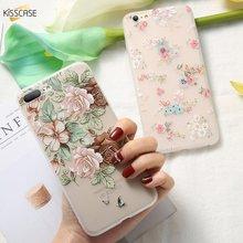 KISSCASE 3D Flower Silicone Phone Case for Xiaomi Mi 8 Lite 9 SE A1 A2 5X 6X 6 P