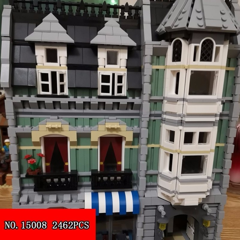 Lepin Happy Spelling 15008 Streetscape Series Out Of Print Engraved Green Grocery Store Spelling Insert Block Alpinia 2462pcs spelling today ages 8 9
