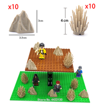 Купить с кэшбэком bush rockery Components Building Blocks Can fight city army forest PUBG Figures mini model My own scene Compatible legoinglys