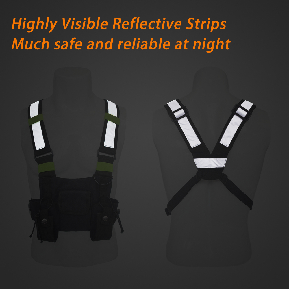 Image 5 - Outdoor Military Tactical Vest Highly Visible Reflective Radio Harness Chest Rig Outdoor Clothing Hunting Vest-in Hunting Vests from Sports & Entertainment