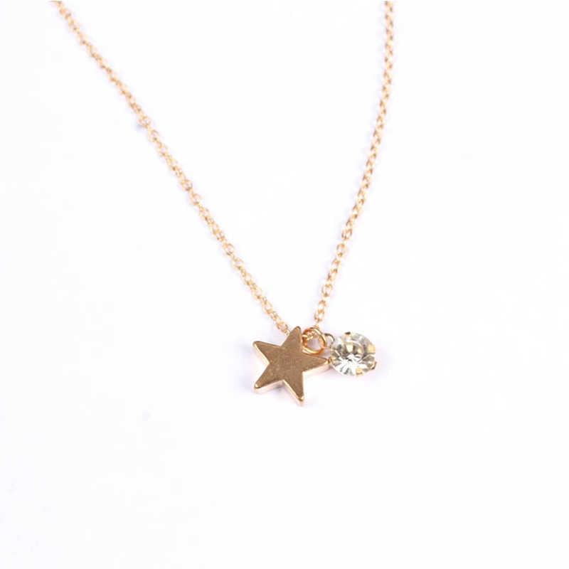Crystal Meisjes Hanger Ketting 1 PC Rok Zirkoon Zilveren Bruiloft Vrouwen Verstelbare Gouden Geschenken Trui Star Party Valentines Gift