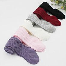 Новые повседневные милые носки для маленьких девочек Детские хлопковые теплые колготки для маленьких девочек, длинные носки