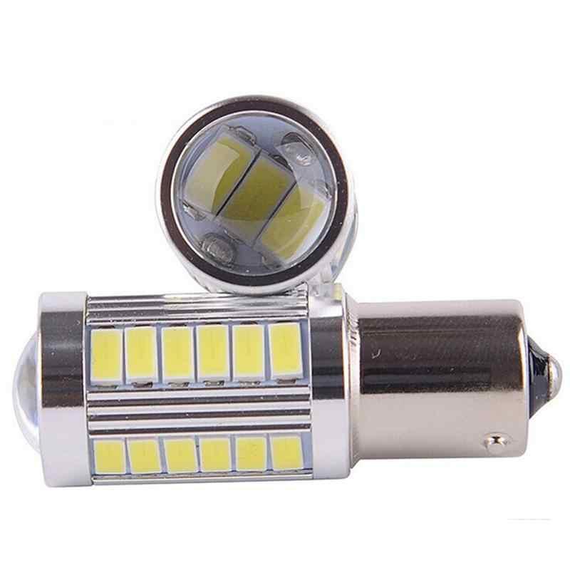 2 cái P21W 1156 BA15S 33 LED Bóng Đèn 5730 SMD Siêu Sáng Nguồn Ánh Sáng Xe Auto Car Sao Lưu Dự Trữ Phanh sương mù Ánh Sáng Đèn