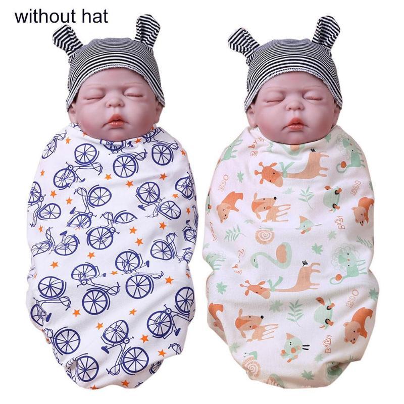 Newborn Mode Baby 2019 Swaddle Decke Baby Schlafen Swaddle Musselin Wrap Mode Stirnband 100% Hochwertige Materialien